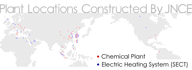 Plant Locations Constructed CEC プラント施工実績
